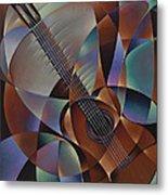 Dynamic Guitar Metal Print