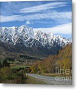 Dynamic Mountains  Metal Print by  Lines