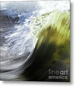 Dynamic River Wave Metal Print