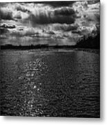 Dynamic Storm Over The Marsh Metal Print