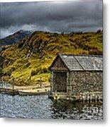 Dywarchen Boathouse Stormy Metal Print