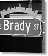 E Brady St Metal Print