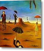Spirit Of The Flying Umbrellas Edit 4 Metal Print