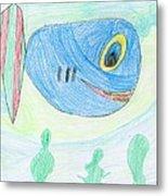 E' S Blue Fish Metal Print