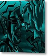 E Vincent Aquamarine Metal Print