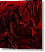 E Vincent Red Metal Print