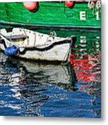 E17 Reflections - Lyme Regis Harbour Metal Print