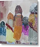 Each Other And The Earth Metal Print by Vicki Aisner Porter