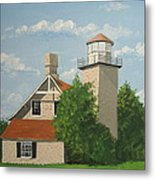Eagle Bluff Lighthouse Wisconsin Metal Print
