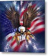 Eagle Burst Metal Print