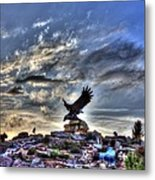Eagle Fountain Metal Print