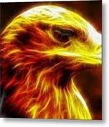 Eagle Glowing Fractal Metal Print