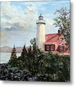 Eagle Harbor Light Metal Print