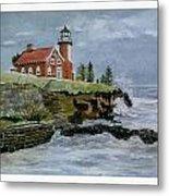 Eagle Harbor Lighthouse Metal Print