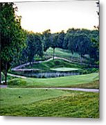 Eagle Knoll - Hole Fourteen From The Tees Metal Print