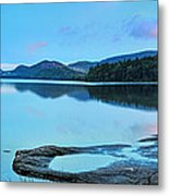 Eagle Lake Maine - Panoramic View Metal Print by Thomas Schoeller
