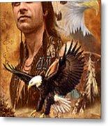 Eagle Montage Metal Print by Garry Walton