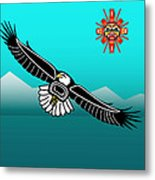 Eagle Over Olympics Metal Print