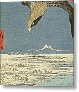 Eagle Over One Hundred Thousand Acre Plain At Susaki Metal Print