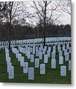 Eagle Point National Cemetery In Winter 1 Metal Print
