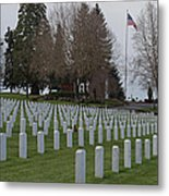 Eagle Point National Cemetery In Winter 2 Metal Print