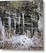 Eagle Rock Icicles 2 Metal Print