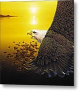 Eagle Sunset Metal Print
