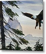 Eagle Wilderness Metal Print