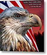 Eagle With Pledge Allegiance Metal Print