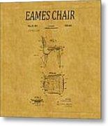 Eames Chair Patent 1 Metal Print
