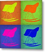 Eames Rocking Chair Pop Art 1 Metal Print