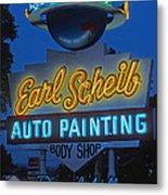 Earl Scheib Neon Bev Hills-1 Metal Print