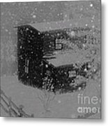 Early Blizzard At The Old Homestead Metal Print