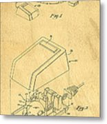 Early Computer Mouse Patent Yellowed Paper Metal Print
