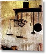 Early Kitchen Tools Metal Print