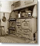 Early Kitchen With A Gas Stove 1920 Metal Print