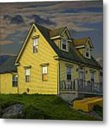 Early Morning At Peggys Cove In Nova Scotia Canada Metal Print