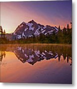 Early Morning At Picture Lake Metal Print