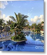 Early Morning At The Pool Metal Print