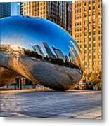 Early Morning Bean In Chicago Metal Print
