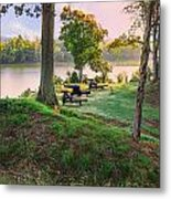 Early Morning Cannons Metal Print