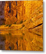 Early Morning Canyon Reflection Metal Print