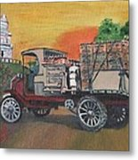 Early Morning Delivery Metal Print