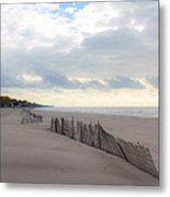 Early Morning Empty Beach Metal Print