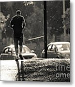 Early Morning Jog Metal Print
