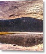 Early Morning Lake Light Metal Print by Robert Bales