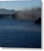 Early Morning Mist On A Lake Metal Print