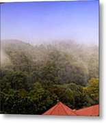Early Morning Mist Over The Rain Forest Metal Print