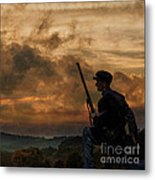 Early Morning Picket Duty Union Soldier Metal Print