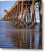 Early Morning Pier Metal Print